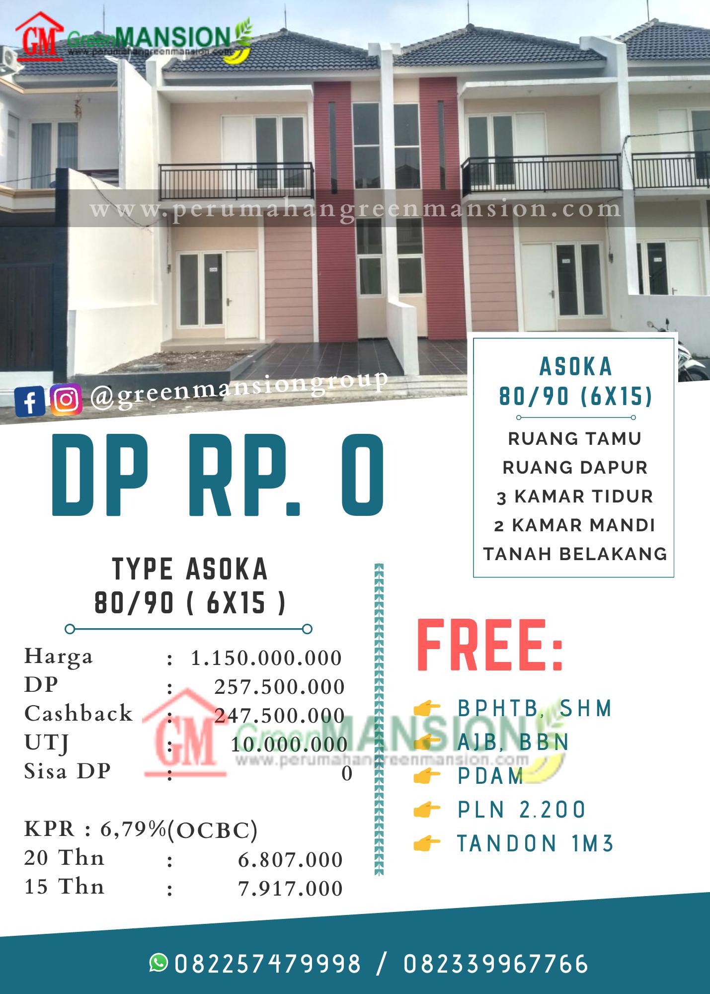 Perhitungan Green Mansion Waru Type Asoka