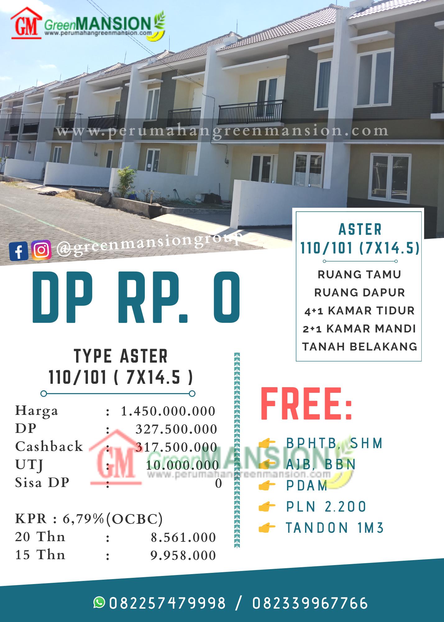 Perhitungan Green Mansion Waru Type Aster