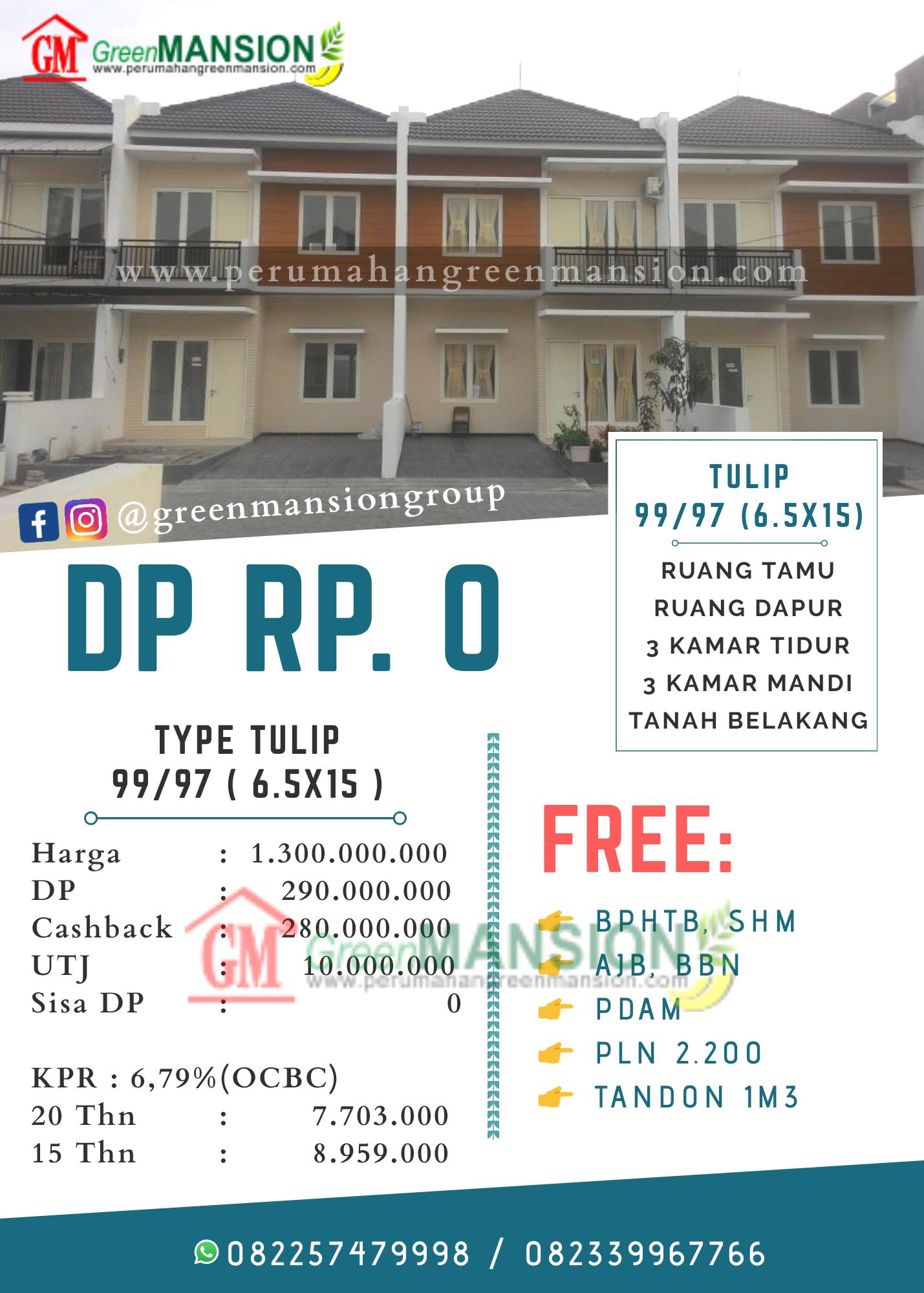 Perhitungan Green Mansion Waru Type Tulip