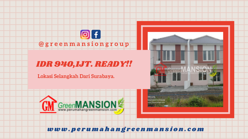 Promo Green Mansion Lontar Type Jasmine